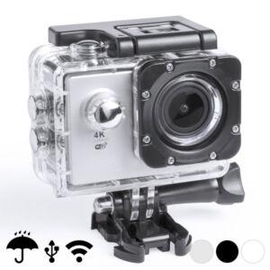 "Sportkamera 4K 2"" 360º WiFi (16 pcs) 145528, Fekete"