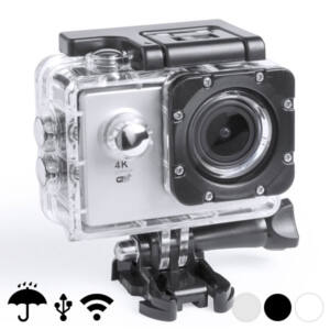 "Sportkamera 4K 2"" 360º WiFi (16 pcs) 145528, Szürke"