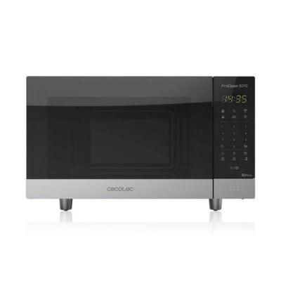 Cecotec ProClean 6010, Mikrohullámú sütő, 23 L, 800W, Fekete Ezüst színű