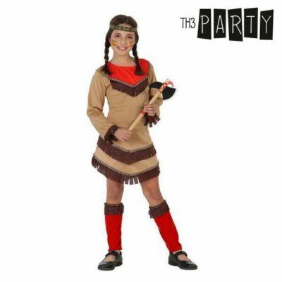Indián lány Piros (4 db) Gyerek jelmez, 3-4 éves kor