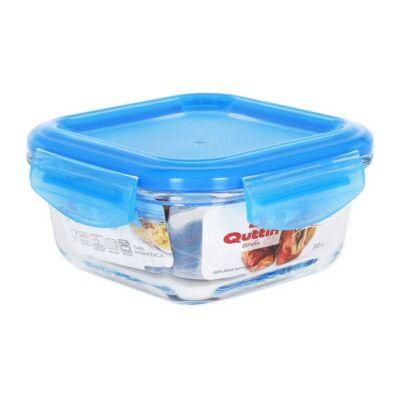 Hermetikus ebéddoboz Quttin Négyzetben Kristály Kék Kapacitás 310 cc -12 x 12 x 6 cm