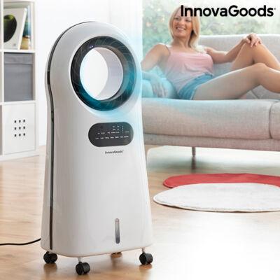 InnovaGoods Ionizátor, lapátok nélküli párologtató légkondicionáló LED-del O·Cool 90W
