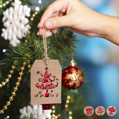 Karácsonyfagömb 145503 Minta Ajándék