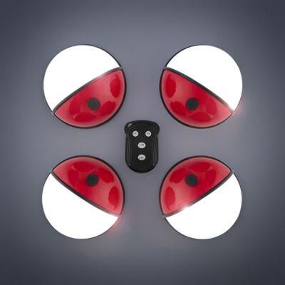 Pockelamp Hordozható LED Lámpa Távirányítóval (4 darab)
