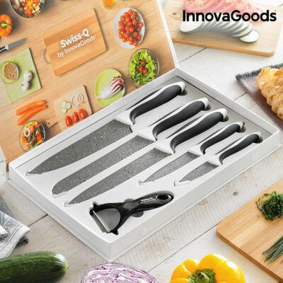 InnovaGoods Swiss·Q Stone Kő Kés és Hámozókészlet (6 darabos)