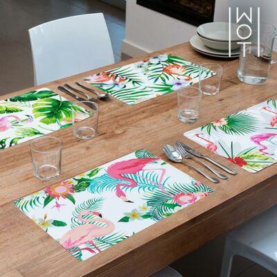 Wagon Trend Tropical Flamingós Asztalterítő