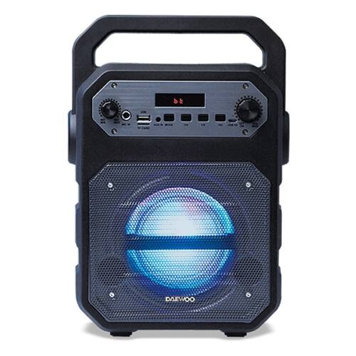Daewoo DSK-345B LED 15W Fekete, Hordozható bluetooth hangszóró