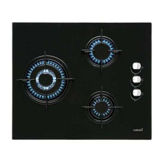 Gáz Főzőlap Cata CIB6021BK 60 cm Fekete (3 Tűzhelyek)