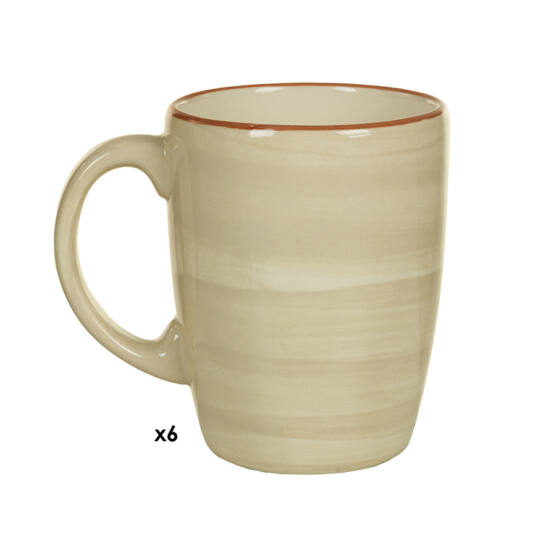 6 Csésze Készlet (6 pcs) (8,5 x 12,5 x 10 cm) - Queen Kitchen Gyűjtemény