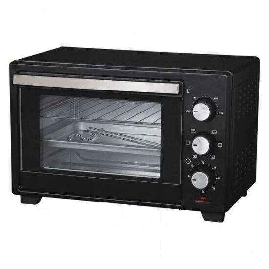 Comelec HO2504C Mini Elektromos Konvekciós Sütő 1600W Fekete