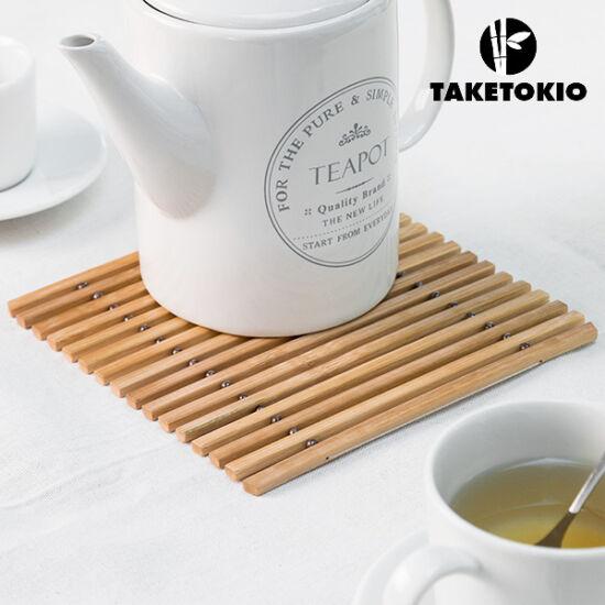 TakeTokio Rugalmas Bambusz Edényalátét
