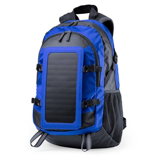 Napelempaneles Hátizsák, Telefon, és Táblagép Töltővel 6.5W, kék
