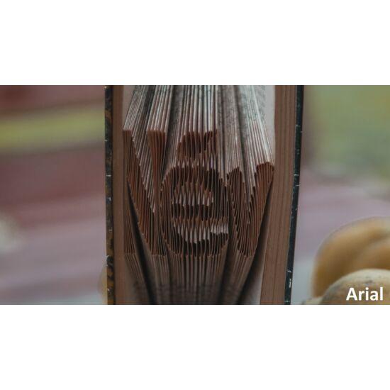 Egyedi kézzel készített könyvszobor, Arial, 1-6 betű