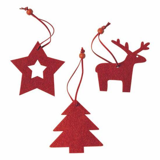 Karácsonyi dísz szett (3 db) 145197 Szín Piros
