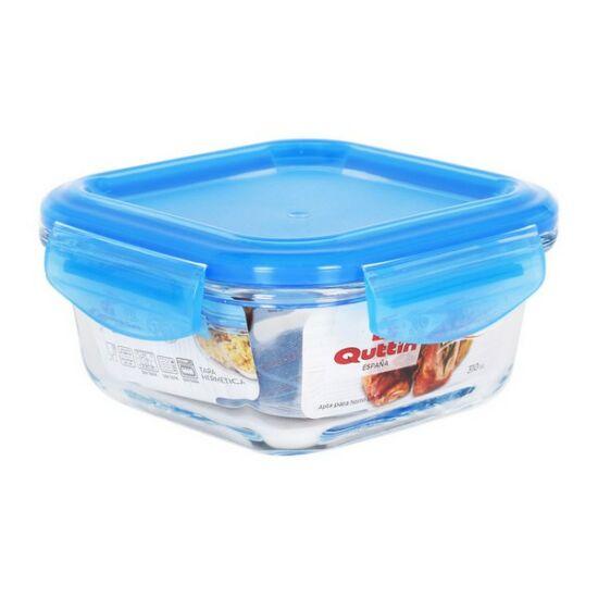 Hermetikus ebéddoboz Quttin Négyzetben Kristály Kék Kapacitás 1100 cc - 19 x 19 x 7,7 cm