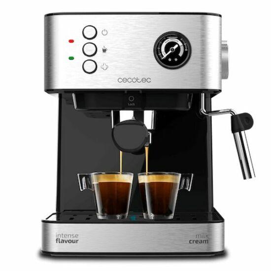Manuális Express Kávéfőző Cecotec Power Espresso 20 Professionale 1,5 L Ezüst Szín ű Fekete
