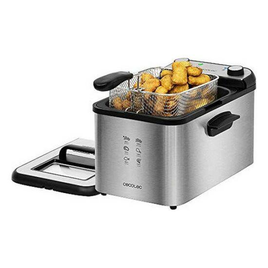 Cecotec CleanFry Infinity 4000 4 L 3270W Fekete Ezüst színű Olajsütő