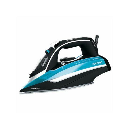 Cecotec 3D ForceAnodized 550 400 ml 3100W Fekete Kék Gőzölős Vasaló