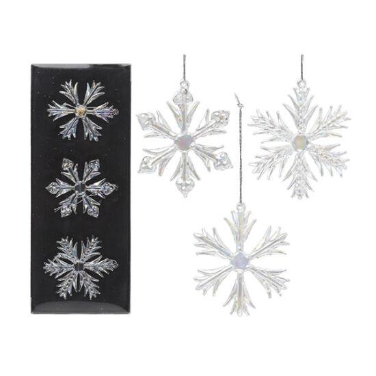 Karácsonyi kézzel készített, hópehely dekoráció