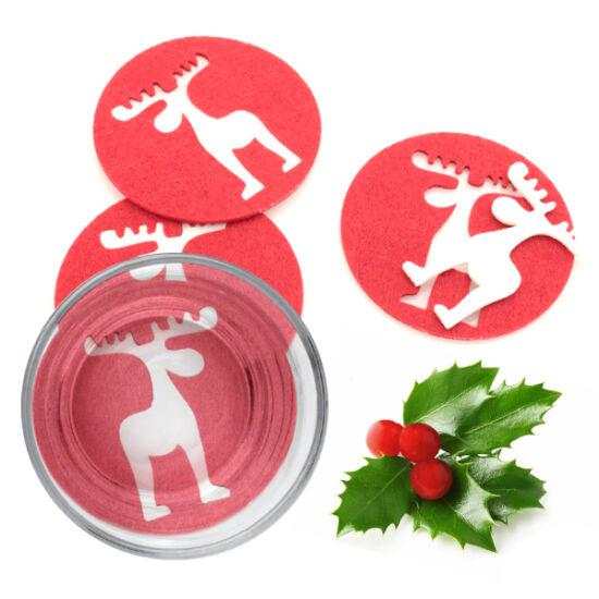 Karácsonyi Rénszarvas Alátétek (4 db) 143754 Szín Piros
