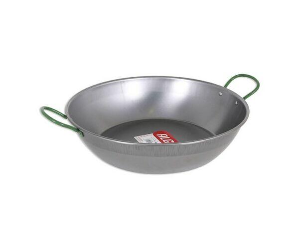 Algon Csiszolt acél Serpenyő Mély fogantyúval, Szürke, 40 cm