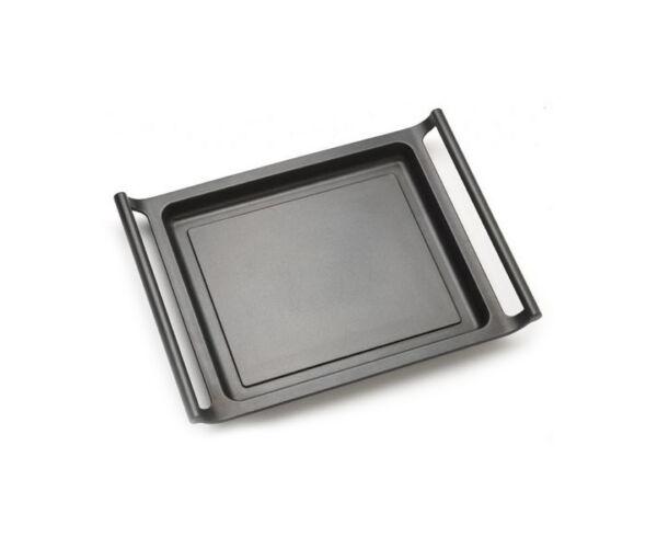 Lapos grilltál BRA A271545 45 cm Fekete