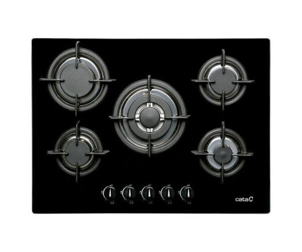 Gáz Főzőlap Cata L705CI (70 cm) Fekete (5 Tűzhelyek)