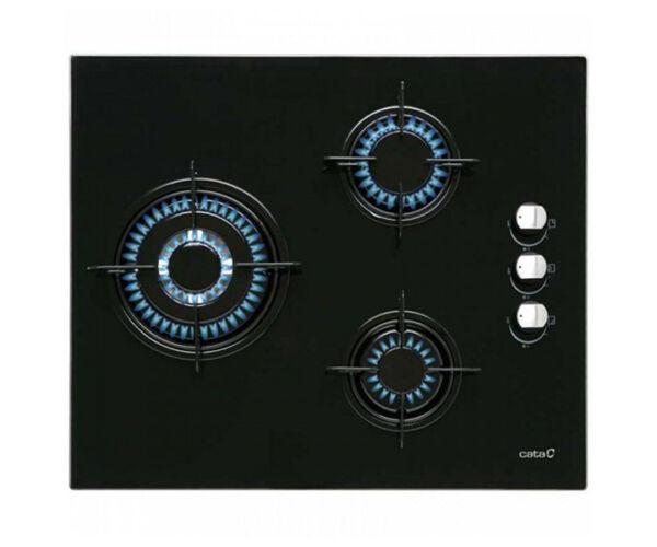 Gáz Főzőlap Cata CI6021BK (60 cm) Fekete (3 Tűzhelyek)