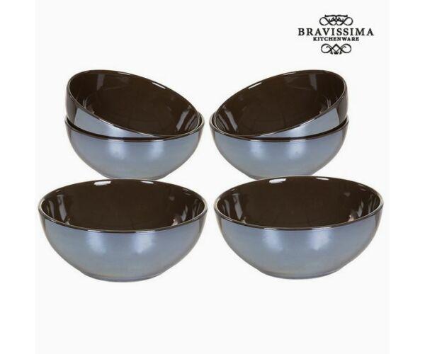 Set of bowls China crockery Barna (6 db) - Kitchen's Deco Gyűjtemény by Bravissima Kitchen