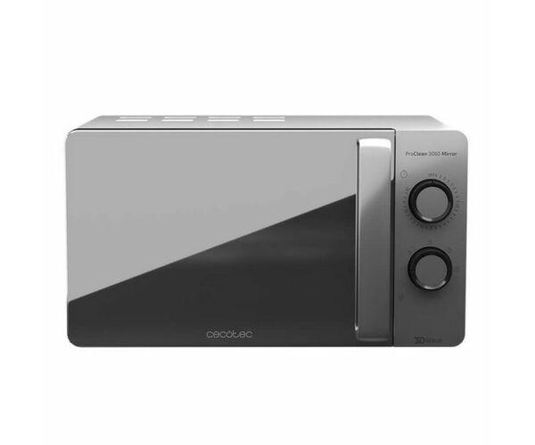 Cecotec ProClean 3060, Mikrohullámú sütő, 20 L, 700W, Ezüst színű