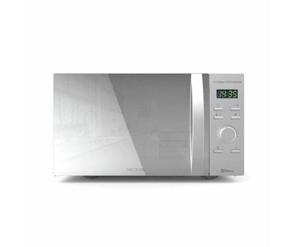 Cecotec ProClean 5120, Mikrohullámú Sütő Grillsütővel, 20 L, 700W, Ezüst színű