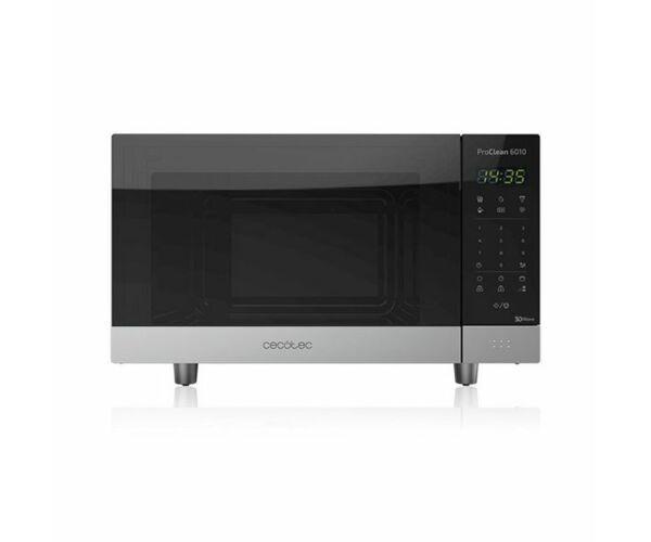 Cecotec ProClean 6110, Mikrohullámú Sütő Grillsütővel, 23 L, 800W, Fekete Ezüst színű