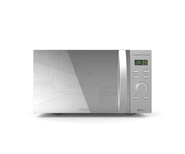 Cecotec ProClean 8110, Mikrohullámú Sütő Grillsütővel, 28 L, 1000W, Ezüst színű