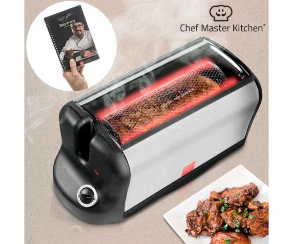 Smart Rotisserie S Hordozható Elektromos Sütő Receptkönyvvel 600W
