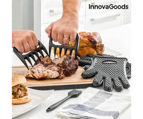 InnovaGoods Húsdaraboló Kesztyűvel és Kefével