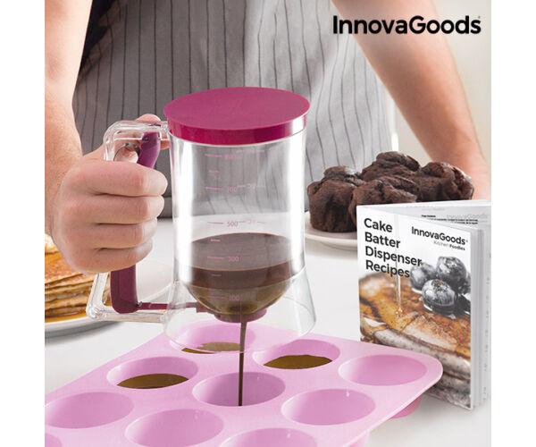 InnovaGoods Cukrászati Adagoló Kancsó Receptkönyvvel