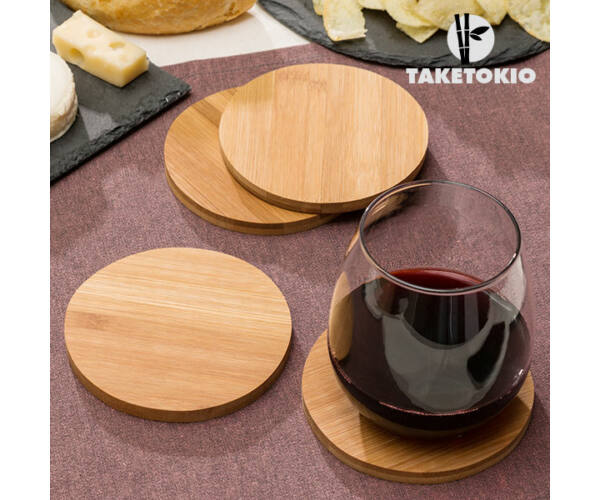 TakeTokio Bambusz Poháralátét Készlet (4 darabos)