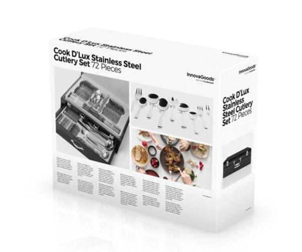 InnovaGoods Cook D'Lux Rozsdamentes Acél Evőeszköz Készlet (72 darabos)