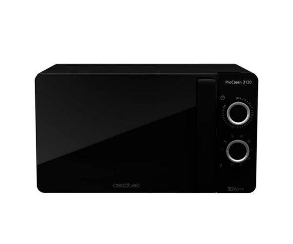 Cecotec ProClean 3130 20 L 700W Fekete, Mikrohullámú sütő, Grillsütővel