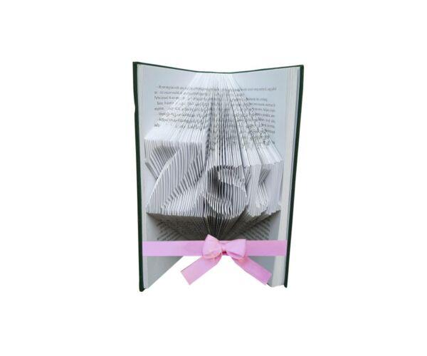 Egyedi kézzel készített könyvszobor, Zsu (3 betű)