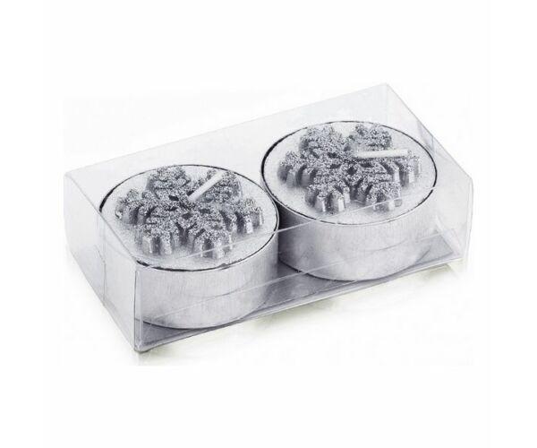 Gyertya készlet (2 db) Fémes 143181 Szín Ezüst színű