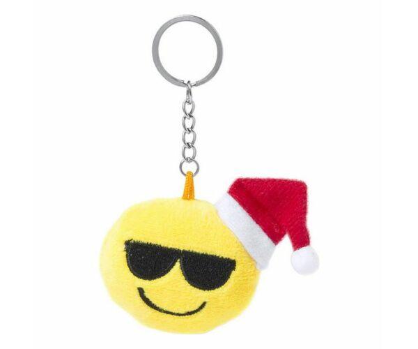 Karácsonyi hangulatjel kulcstartó Minta Szemüveges