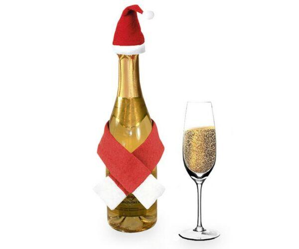 Karácsonyi Dísztárgyak Üvegekhez (2 db) 144261 Szín Piros