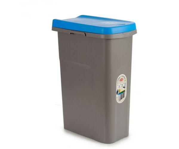Szemetes láda Kék Műanyag 25L-bibishop