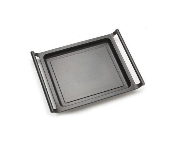 Lapos grilltál BRA A271535 35 cm Fekete