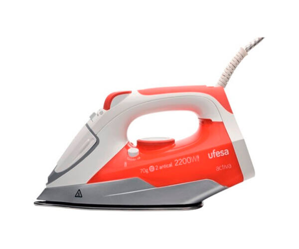 UFESA PV1000 0,25 L 20 g/min 2200W Fehér Piros Gőzölős Vasaló