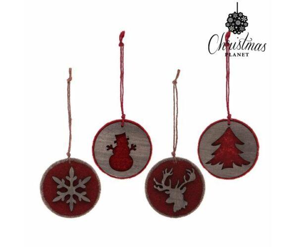Karácsonyfadísz, textil