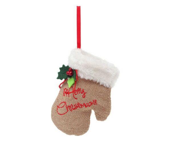 Karácsonyfadísz, kesztyű