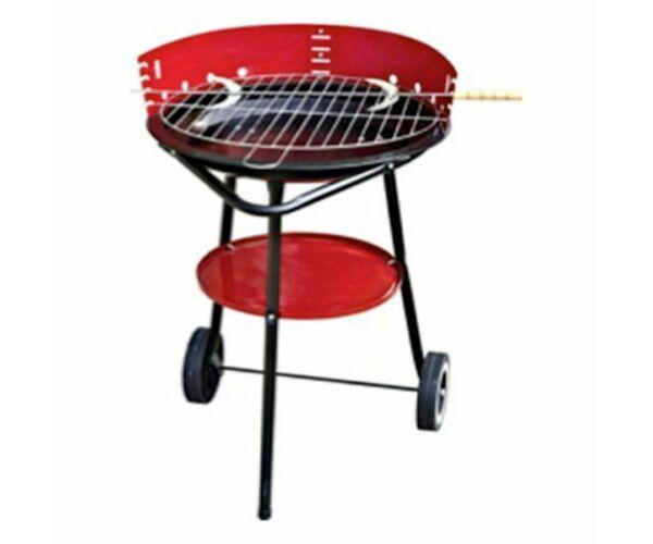Szén barbecue kerekekkel (44 x 44 x 74 cm)