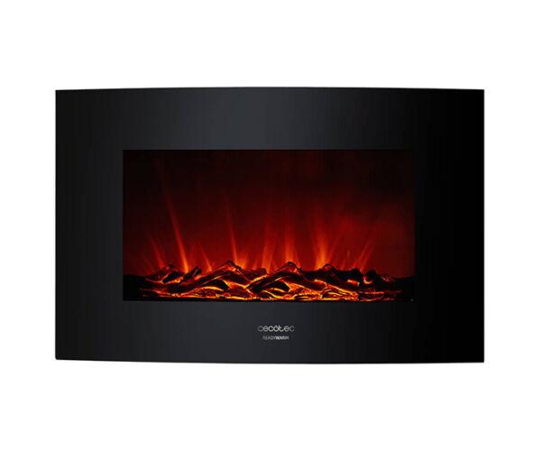 Fali dekoratív kandalló Cecotec Warm 3500 Curved Flames 2000W, Fekete